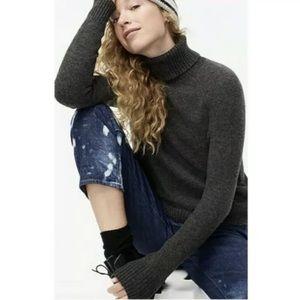 J.crew dark gray turtleneck sweater oversized